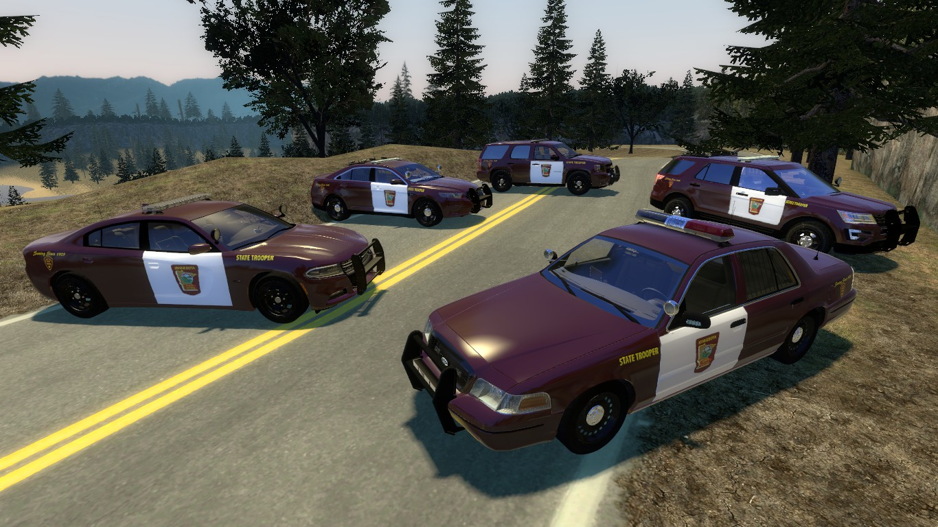 The full set of State Trooper liveries.